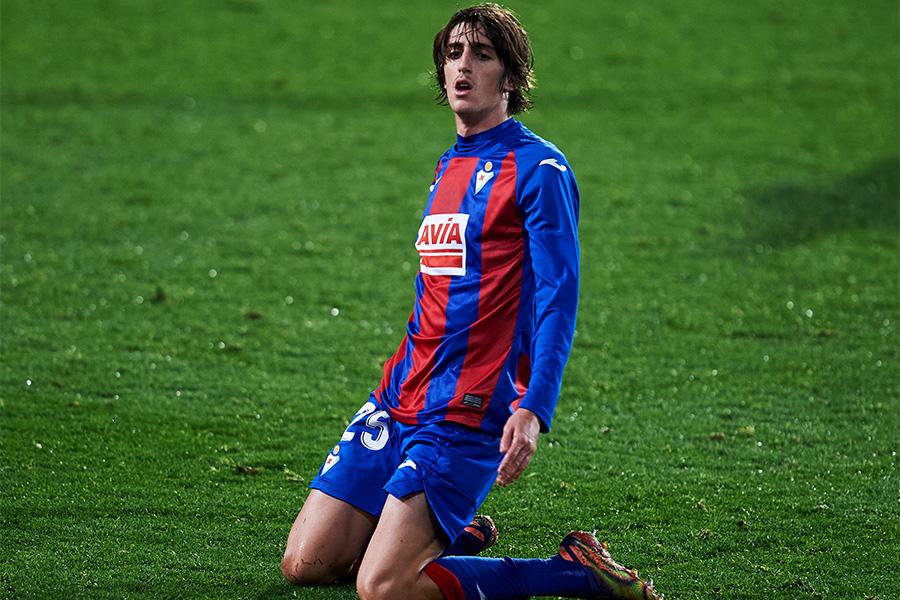 エイバルでプレーする19歳のFWブライアン・ヒル【写真:Getty Images】