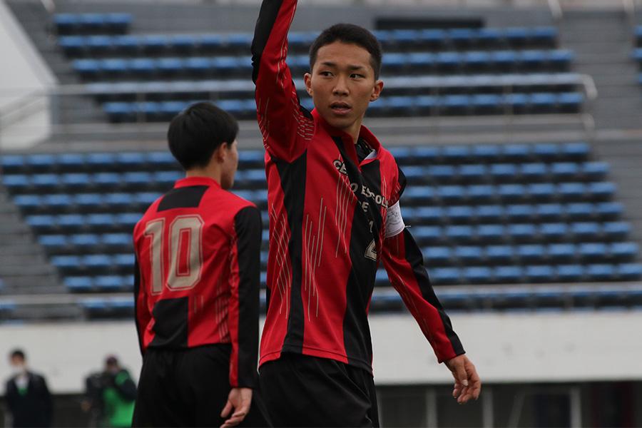 ベスト4に進出をした矢板中央の主将DF坂本龍汰【写真:Football ZONE web】