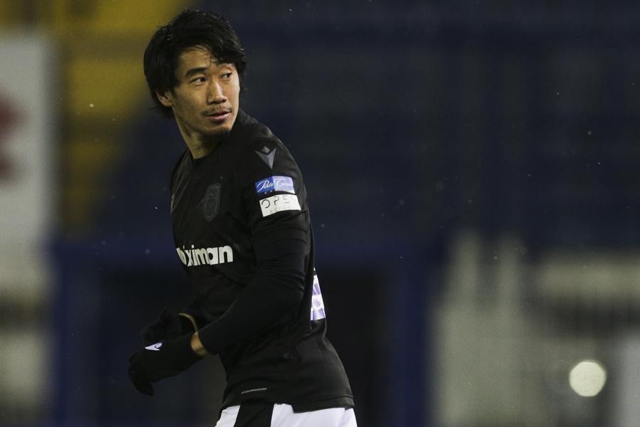 PAOKの香川真司はリーグ戦3試合連続で途中出場【写真:Getty Images】