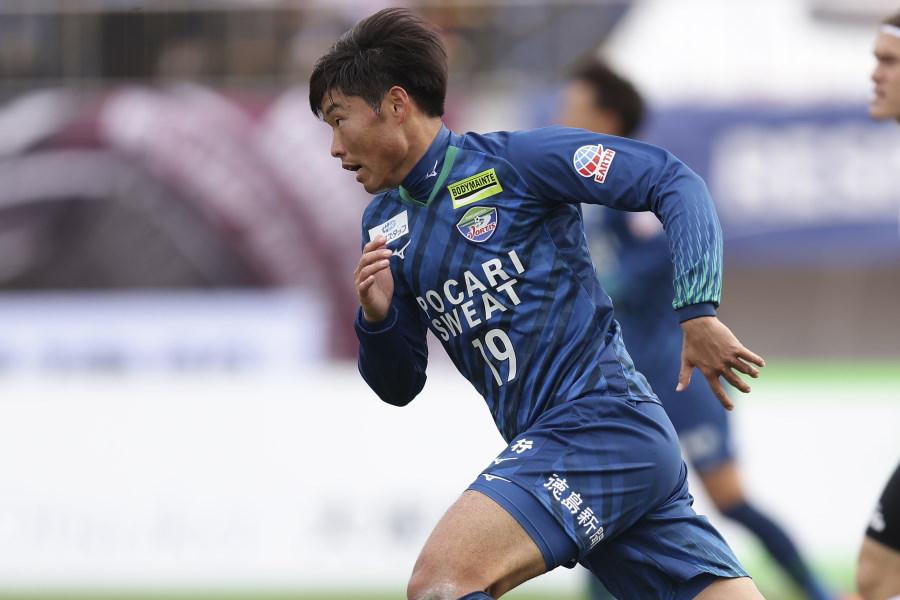 昨季J2でチーム最多の17得点を挙げたFW垣田裕暉【写真:Getty Images】