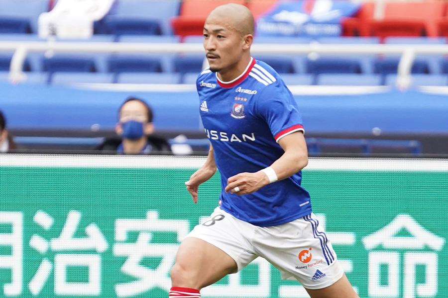 浦和戦で2ゴールを決めたFW前田大然【写真:Getty Images】