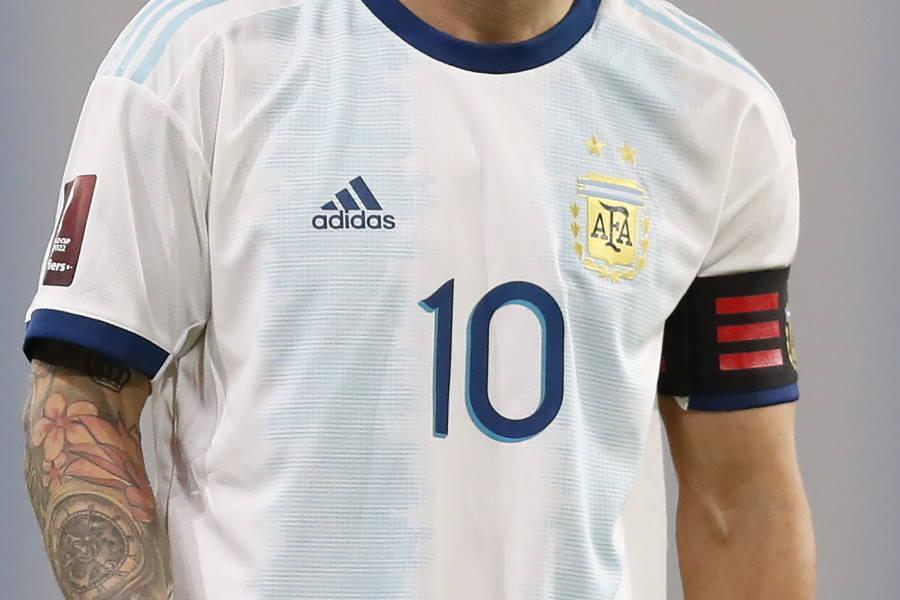 アルゼンチン代表が新ユニフォームを正式発表(写真は旧デザイン)【写真:Getty Images】