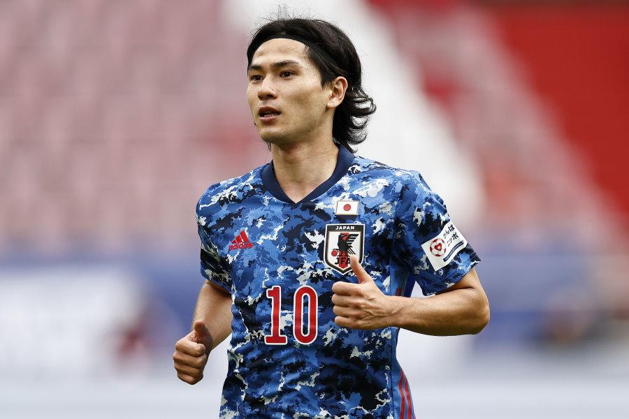今回も日本代表で10番を背負うMF南野拓実【写真:Getty Images】