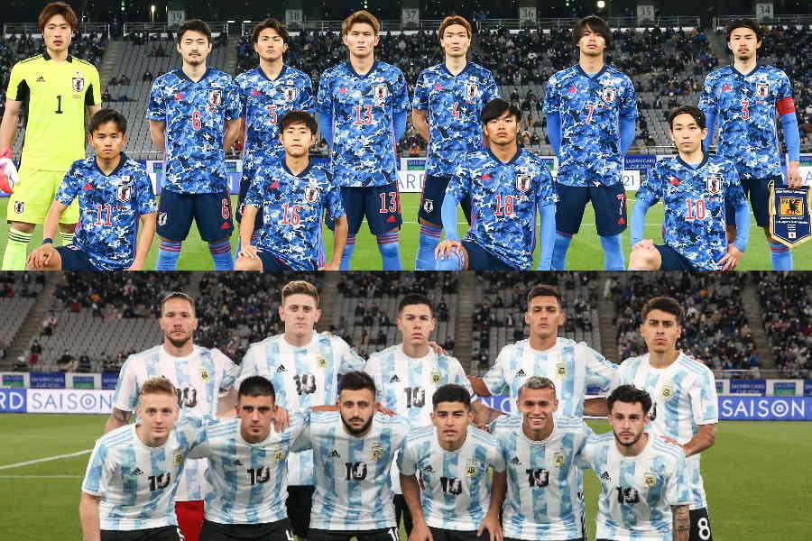 親善試合を行ったU-24日本代表とU-24アルゼンチン代表【写真:©JFA】