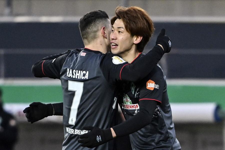 今季公式戦初ゴールを挙げたブレーメン日本代表FW大迫勇也【写真:AP】
