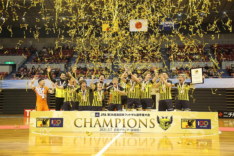 F2のクラブとして初めて全日本フットサル選手権を制したトルエーラ柏【写真:河合 拓/Futsal X】