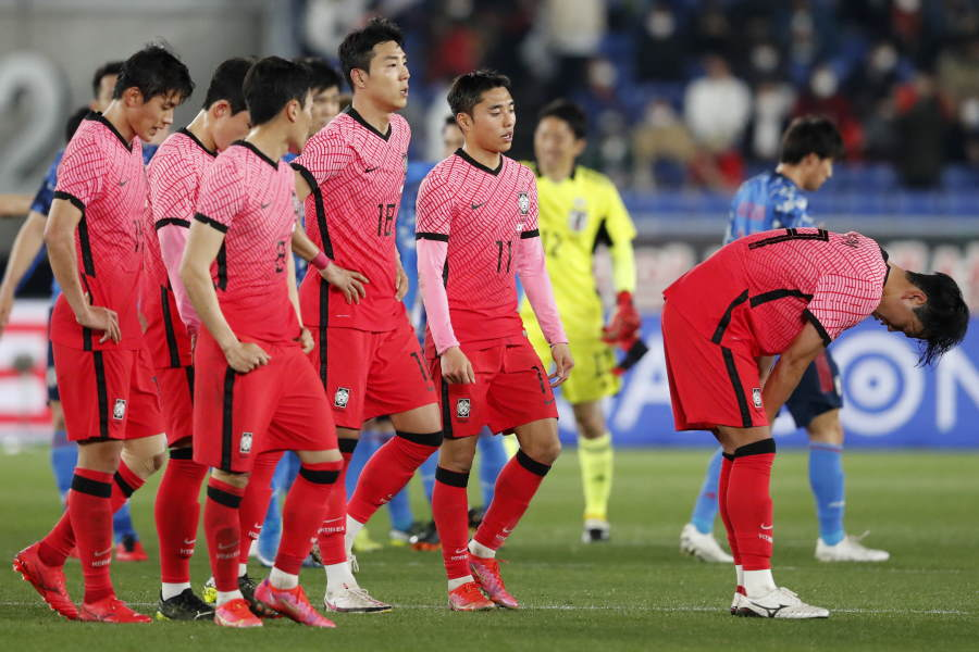 3月に行われた親善試合で日本代表は韓国代表に3-0の快勝【写真:AP】