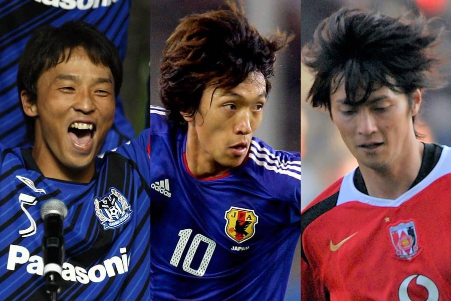 (左から)山口智、中村俊輔、永井雄一郎【写真:Getty Images】