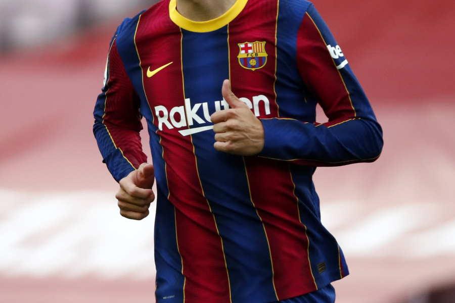 バルセロナの来季ホームユニフォームデザインが流出(※写真は今季1stユニフォーム)【写真:AP】