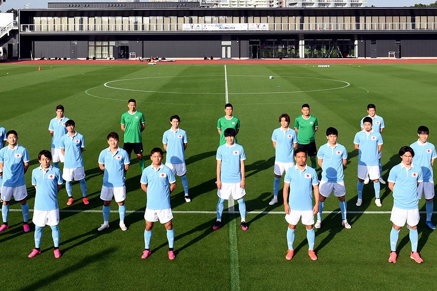 日本代表100周年ユニフォームを身に纏った選手たち【写真:©JFA】