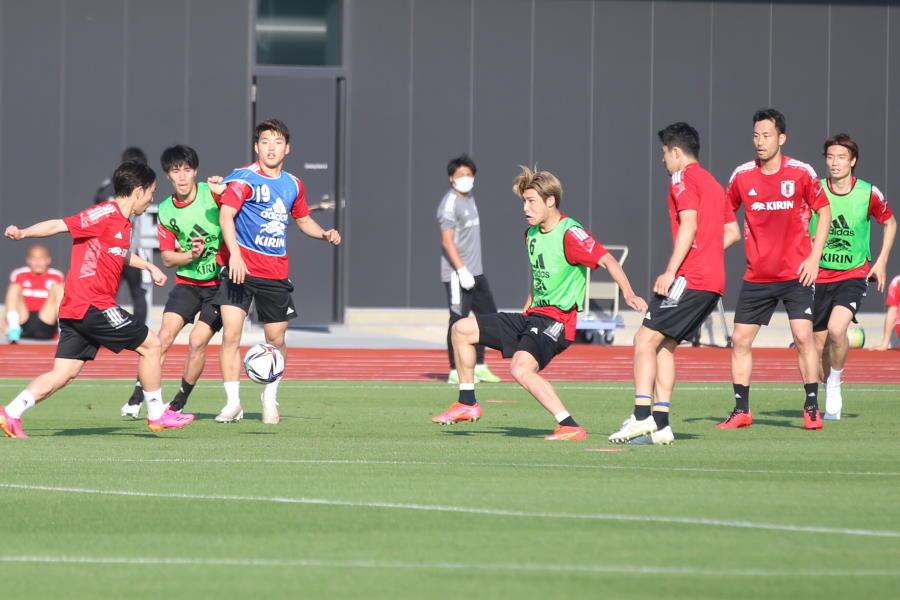 U-24日本代表の練習風景【写真:河合 拓】