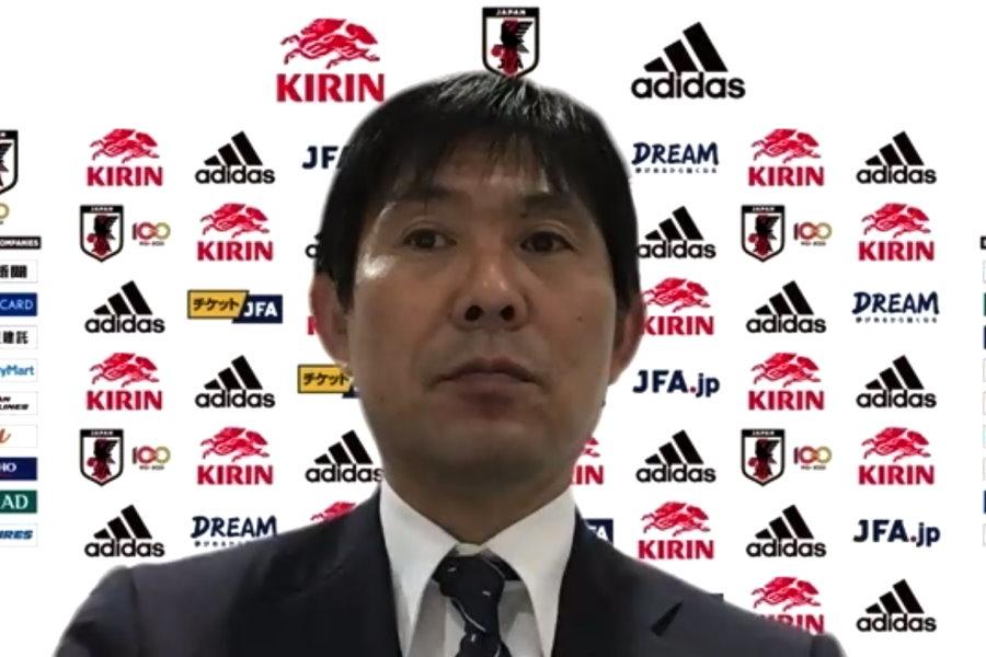 日本代表を率いる森保監督【※画像はスクリーンショットです】