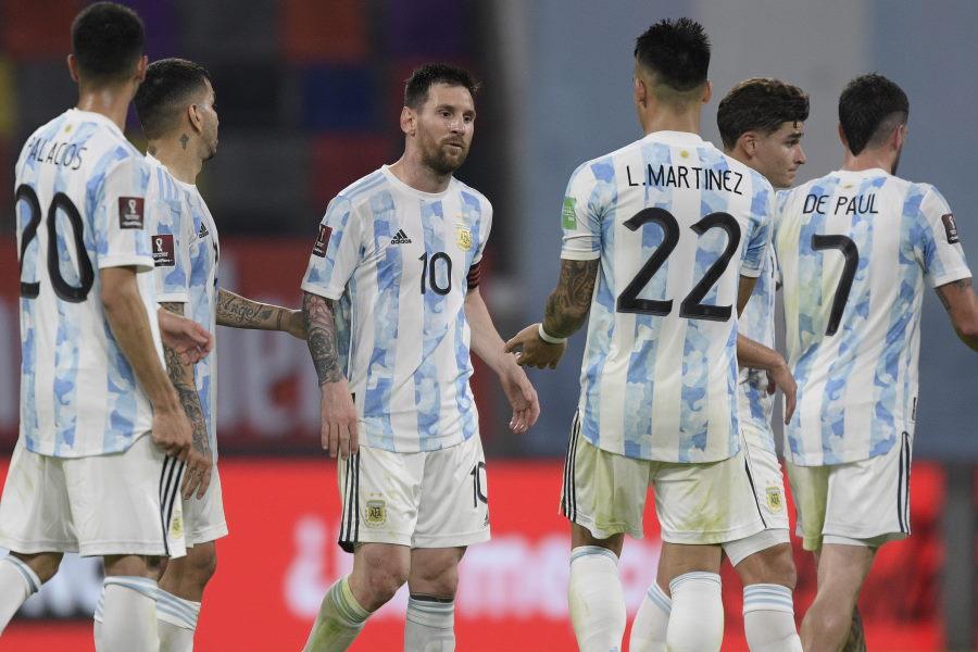 W杯予選のチリ戦に臨んだアルゼンチン代表【写真:Getty Images】