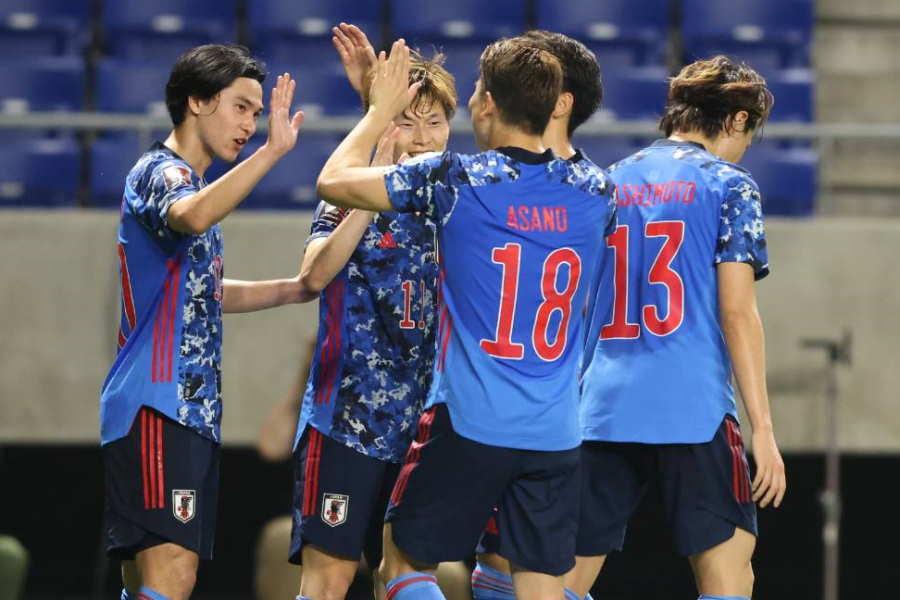 南野がW杯予選7戦連続ゴール含める活躍で日本代表が勝利【写真:高橋 学】