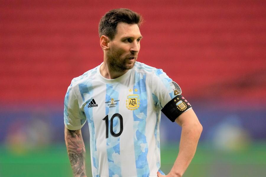 アルゼンチン代表エースのFWリオネル・メッシ【写真:AP】