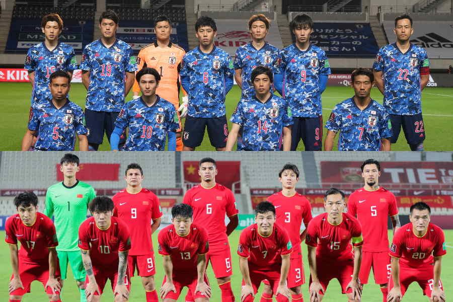同じグループBに入った日本代表と中国代表【写真:Getty Images & ©JFA】