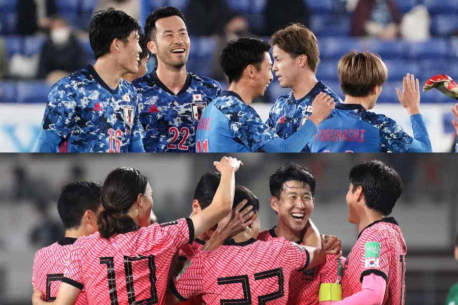 最終予選では別グループとなった日本代表と韓国代表【写真:Getty Images】