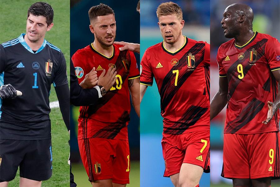 ベルギー代表の中心となり活躍をしてきた選手たち【写真:AP】