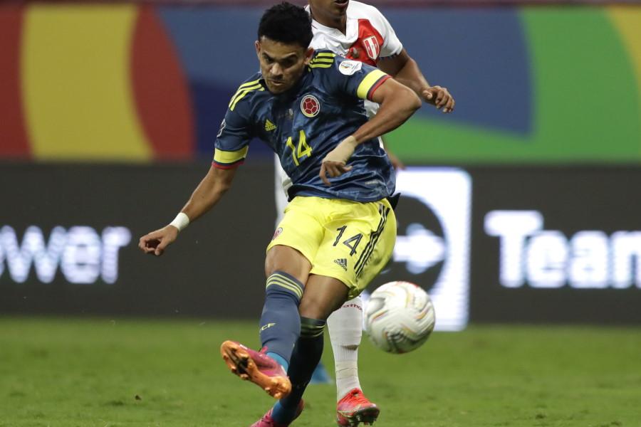2ゴールを奪ったコロンビア代表24歳FWルイス・ディアス(ポルト)【写真:AP】