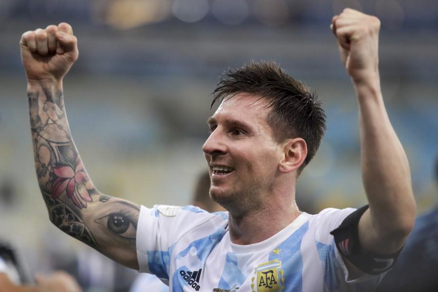 母国に28年ぶりの優勝をもたらしたアルゼンチン代表FWリオネル・メッシ【写真:AP】