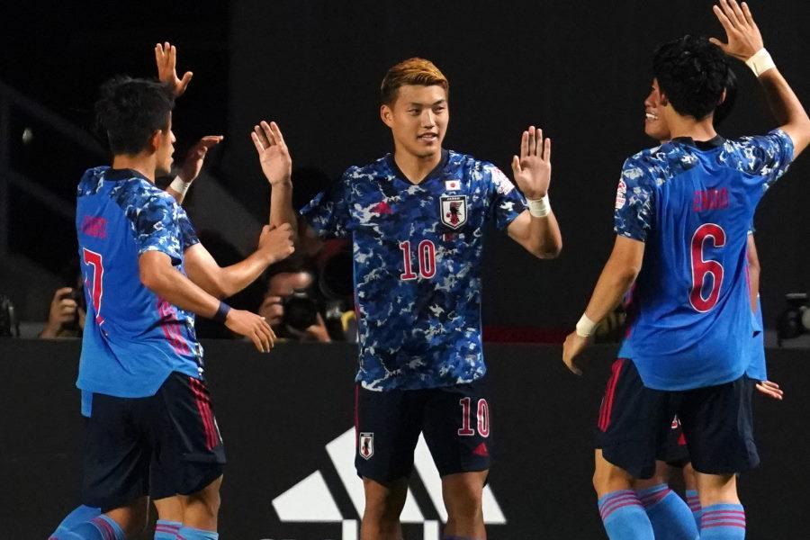 追加点を決めた日本代表MF堂安律【写真:Getty Images】