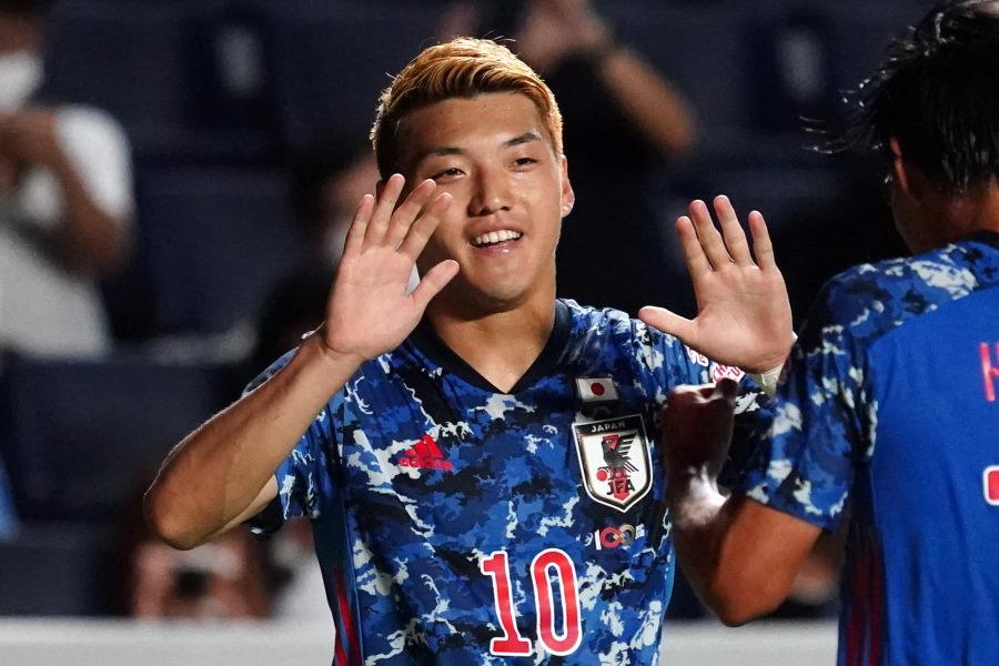 2ゴールを決めた日本代表MF堂安律【写真:Getty Images】