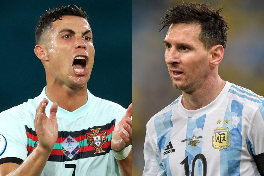 ポルトガル代表FWクリスティアーノ・ロナウドとアルゼンチン代表FWリオネル・メッシ【写真:Getty Images】