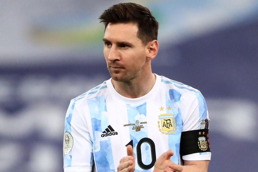 バカンスを過ごしているアルゼンチン代表FWリオネル・メッシ【写真:Getty Images】