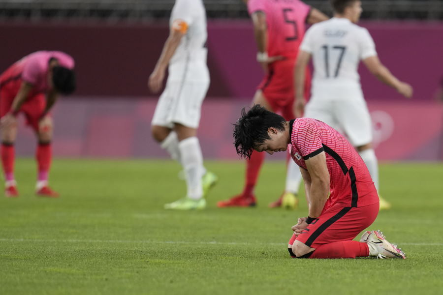 韓国、五輪初戦でニュージーランドに敗戦【写真:AP】