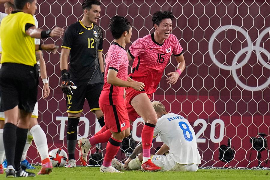 韓国代表がルーマニア代表に勝利し勝ち点3を獲得【写真:AP】