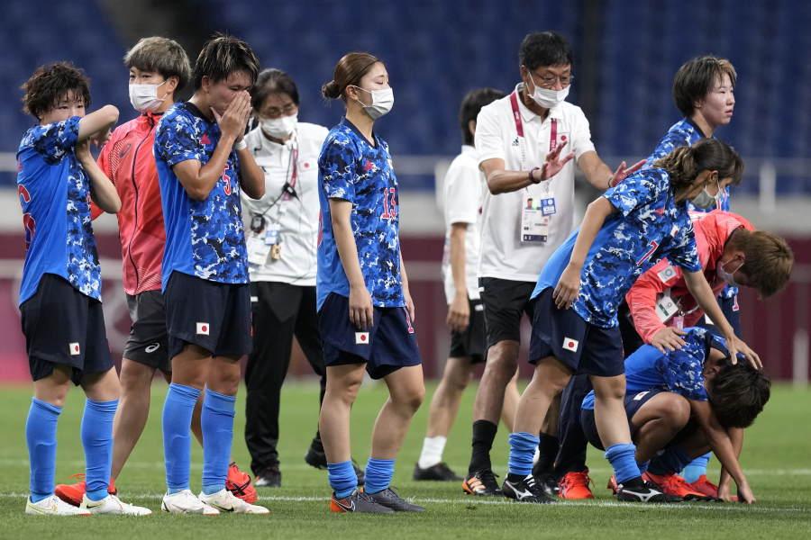 なでしこジャパンは東京五輪ベスト8敗退【写真:AP】