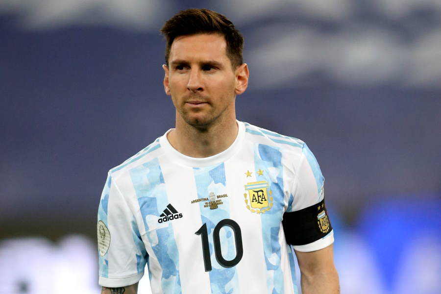 未だ去就が決まっていないアルゼンチン代表FWメッシ【写真:Getty Images】