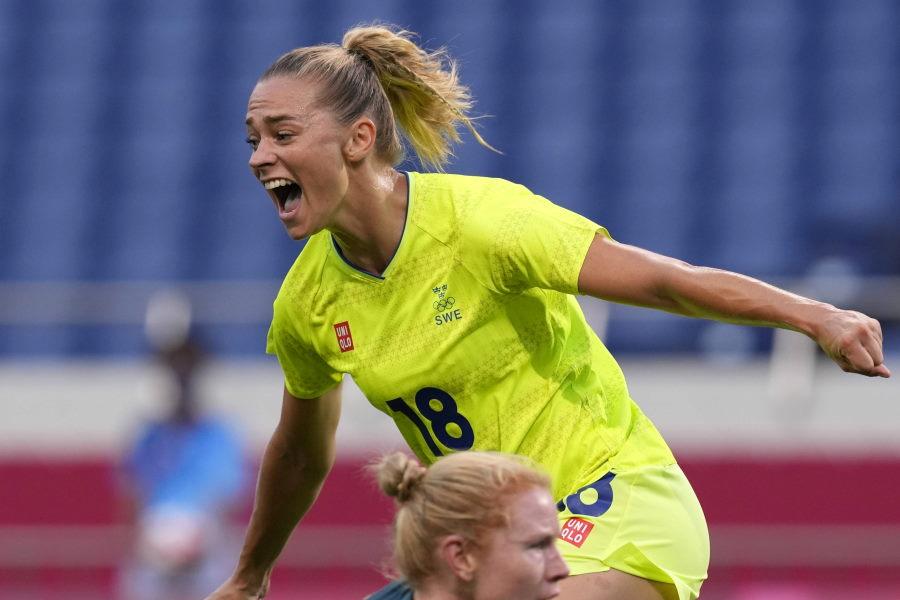 スウェーデン女子FWロルフォ【写真:AP】