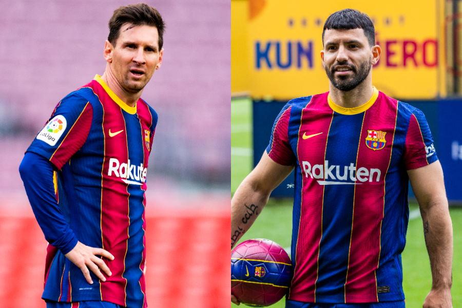 アルゼンチン代表FWリオネル・メッシとFWセルヒオ・アグエロ【写真:Getty Images】