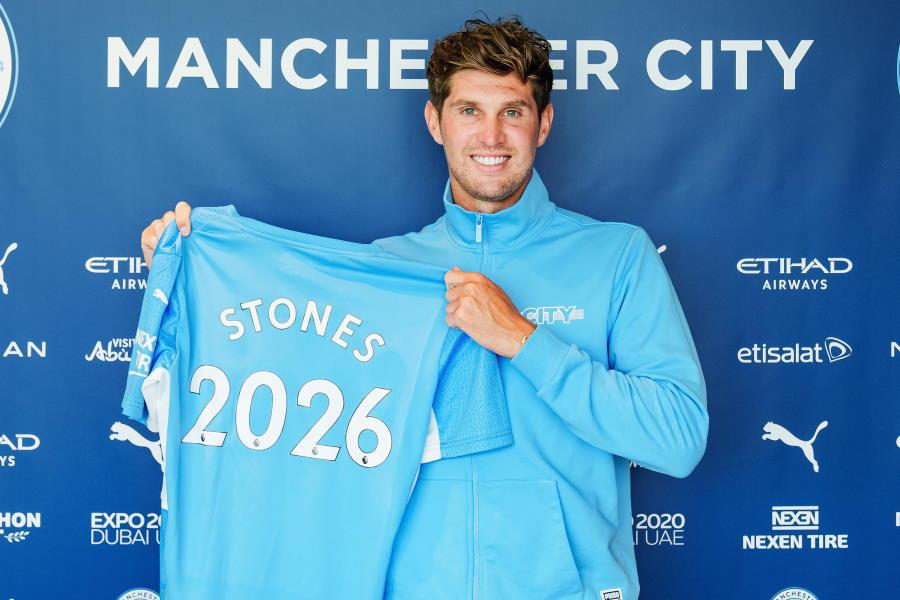シティがイングランド代表DFジョン・ストーンズとの契約を2026年まで延長【写真:Getty Images】