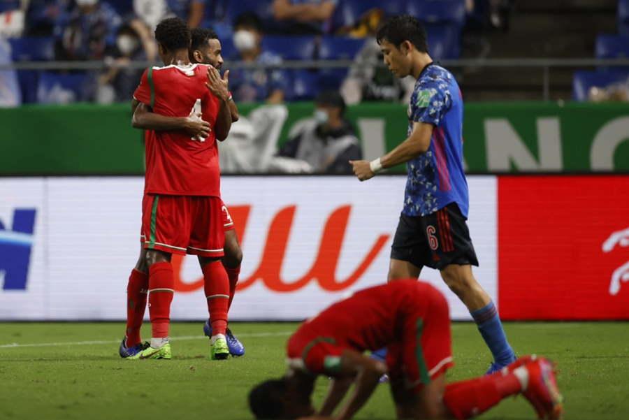 日本代表はオマーンに0-1で敗れた【写真:Yukihito Taguchi】