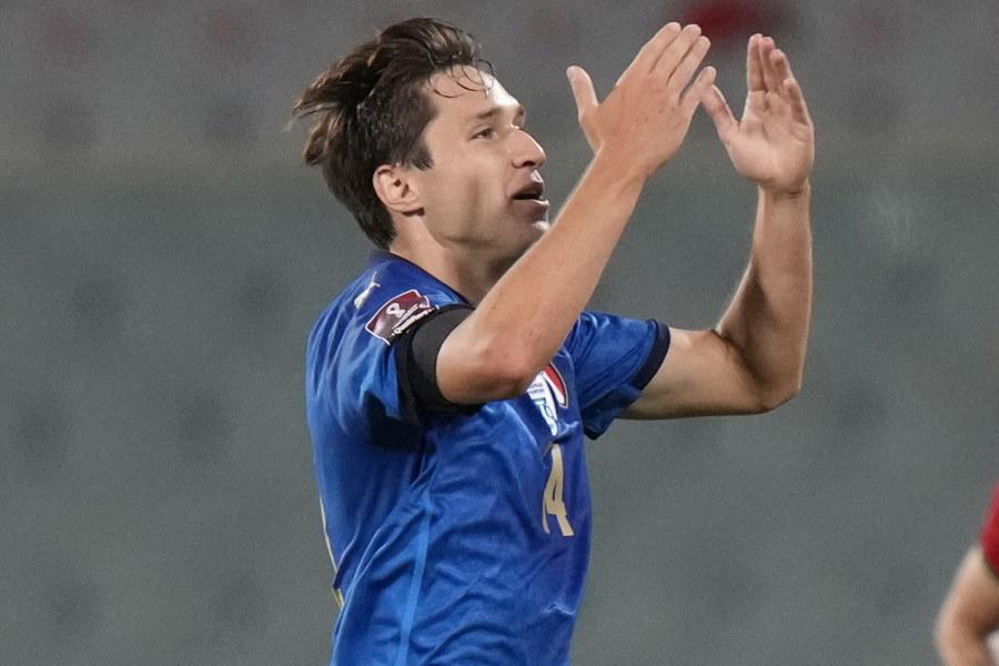 イタリア代表FWフェデリコ・キエーザ【写真:AP】