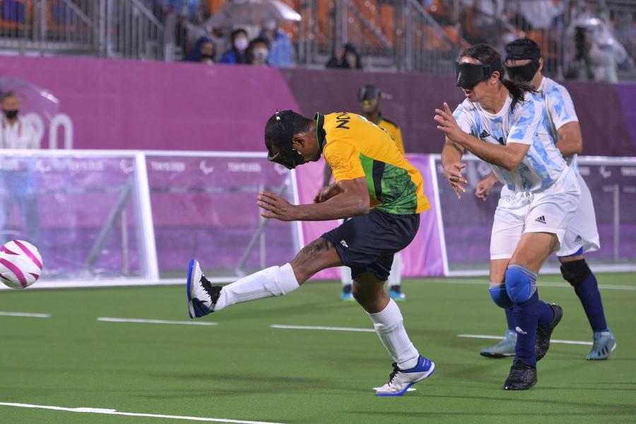 殊勲の決勝ゴールを決めたブラジル代表MFメンデス【写真:Getty Images】