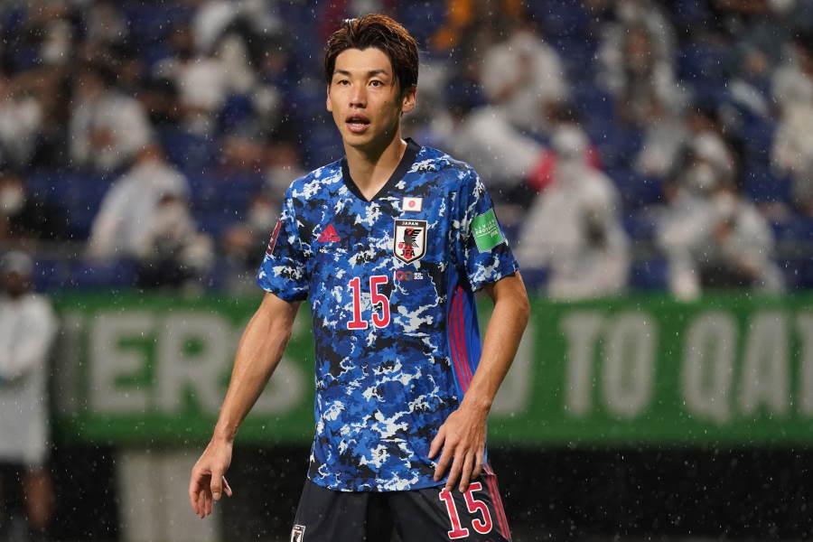 大迫勇也が先制ゴールを決めて前半を折り返した【写真:Getty Images】