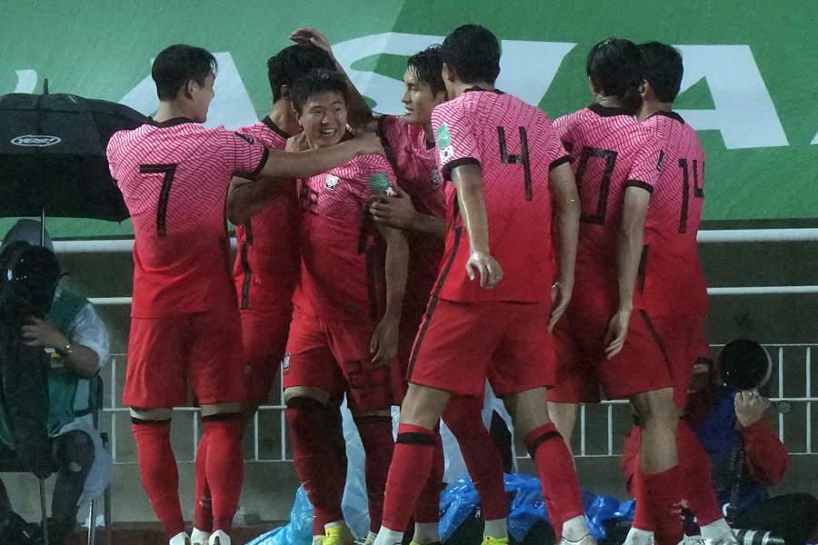 韓国代表がレバノン代表に勝利【写真:AP】