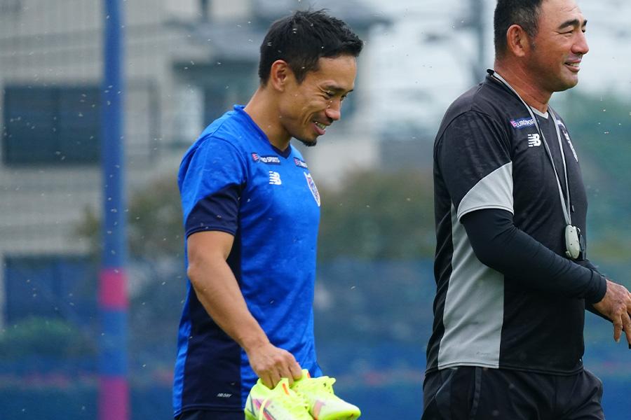FC東京に復帰をしたDF長友佑都が練習に合流【写真:ⓒFC TOKYO】