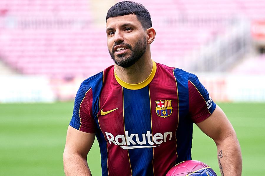 今季からバルセロナに加入したFWセルヒオ・アグエロ【写真:Getty Images】