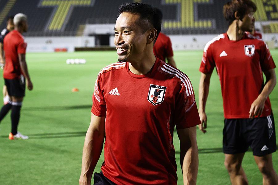 Jリーグ復帰後、初の代表戦を迎えるDF長友佑都【写真:ⓒJFA】