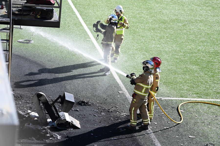 アンドラ×イングランドの試合会場で火災が発生【写真:Getty Images】