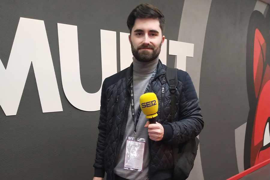 スペインのラジオ局「カデナ・セール」のアルベルト・エルナンド記者【写真:Football ZONE web】